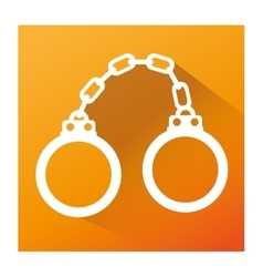 handcuffs justice isolated icon vector image