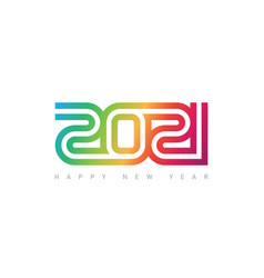 Happy new year 2021 brochure or calendar cover vector
