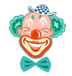 Hilarious laughing clown in a retro style vector
