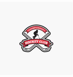 Hockey club badge logo-6 vector