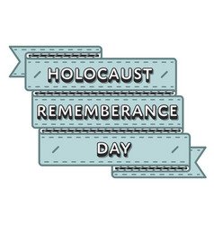 holocaust remembrance day greeting emblem vector image