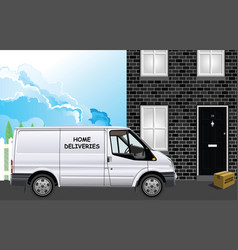 home deliveries courier vector image