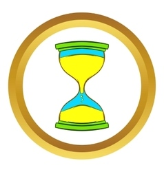 Hourglass icon cartoon style vector
