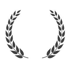 laurel wreath shape isolated on white background vector image