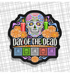 Logo for day dead vector