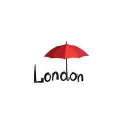 london sign hand lettering nd umbrella vector image