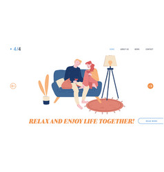 love flirt sparetime website landing page young vector image