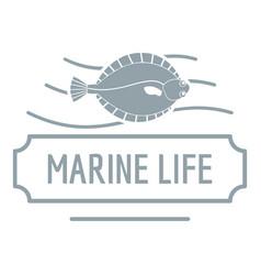 Marine life logo simple gray style vector