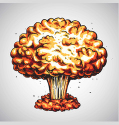 Nuclear explosion atomic bomb mushroom cloud vector