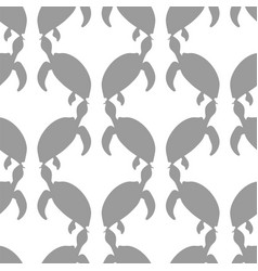 ocean turtle seamless pattern vector image