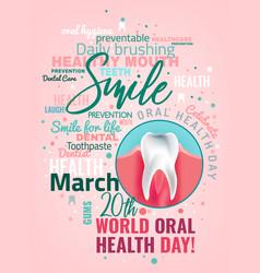 Oral health day vector