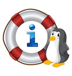 Penguin Information Kiosk Sign vector