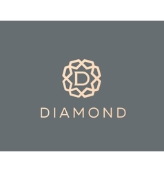 Premium letter D logo icon design Luxury vector image