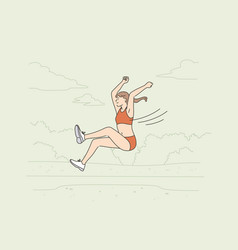 professional long jump athlete concept vector image