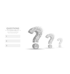 question mark 3d abstract infographic vector image