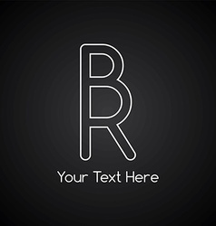 rr initial letter logotype vector image