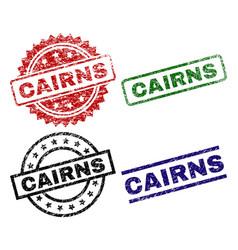 Scratched textured cairns stamp seals vector
