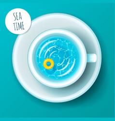 Sea time concept vacation vector