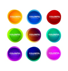 Set colorful round abstract banners shape vector