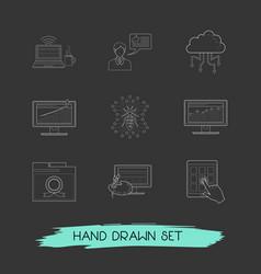 Set webdesign icons line style symbols vector