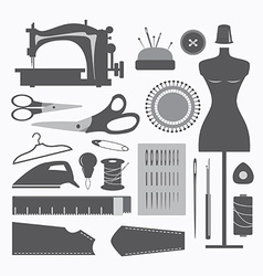 Sewing equipment and needlework vector