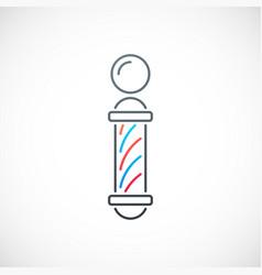 Simple barber shop emblem barber shop line icon vector