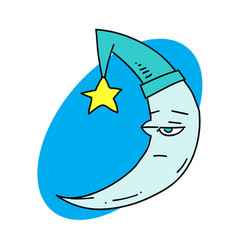 sleepy moon vector image