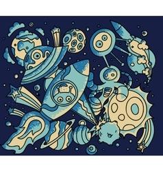 Space doodle vector