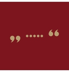 The quote icon Quotation symbol Flat vector image