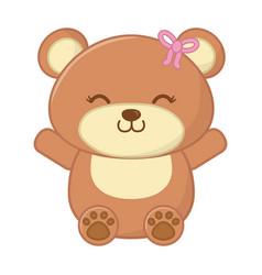 Toy bear icon vector
