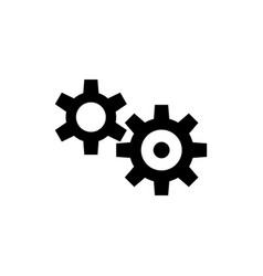 transmission cog wheels flat icon vector image