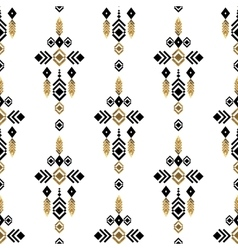 tribal gold ornament vector image