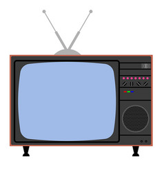 Vintage color television symbol for concept vector