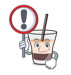 with sign white russian character cartoon vector image