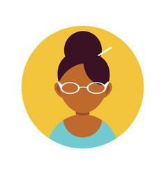 Woman secretary professional person flat design vector