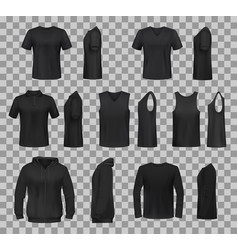 women shirts clothes black 3d template models vector image