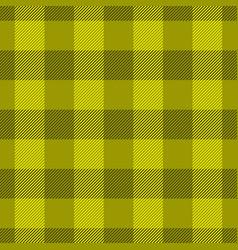 yellow lumberjack plaid pattern seamless vector image