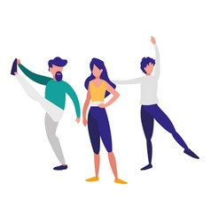 young people dancing flamenco vector image