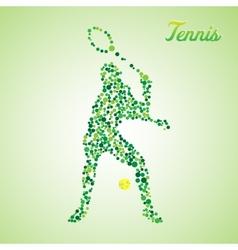 Abstract tennis player kicking the ball vector image vector image