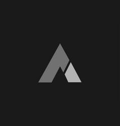 Black grey a alphabet letter logo icon template vector
