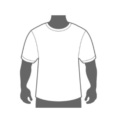 Blank T-shirt Men Body Silhouette vector image vector image