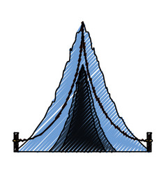 camping tent isolated vector image