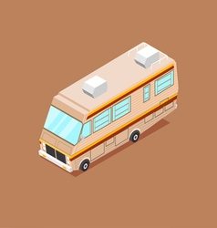 Cartoon Isometric Motorhome vector image vector image