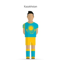 Kazakhstan football player Soccer uniform vector image vector image
