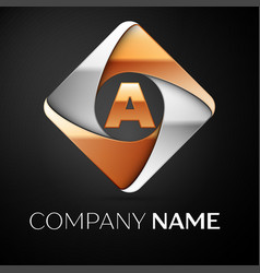 letter a logo symbol in the colorful rhombus on vector image vector image