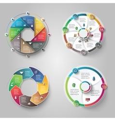 Modern circular infographics design set vector image vector image