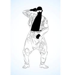 old school rap dancer vector image