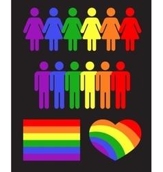 rainbow gay LGBT rights icons and symbols vector image vector image