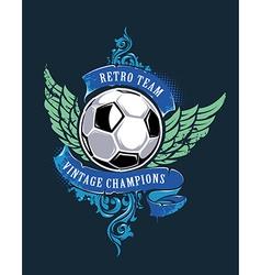 Soccer Grunge Print vector image vector image