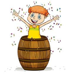 A barrel of fun idiom vector image vector image